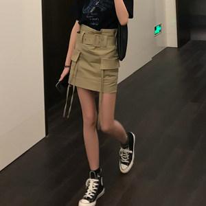 半身裙女2019春季新款韩版修身显瘦包臀裙花苞高腰a字一步短裙潮