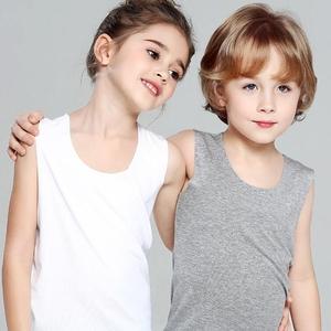 莫代尔儿童<span class=H>背心</span>无袖薄款纯色婴幼男女中小童夏季一片式高弹力<span class=H>背心</span>