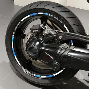 摩托车轮毂反光贴花10寸12寸17寸18寸<span class=H>轮胎</span>装饰彩色贴画贴膜