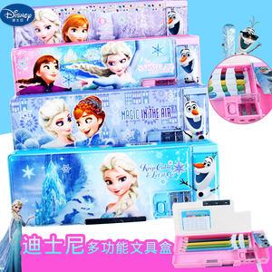 迪士尼苏菲亚公主冰雪奇缘<span class=H>文具盒</span>女多功能塑料小学生创意铅笔盒