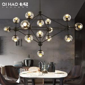 魔豆<span class=H>吊灯</span>北欧灯具 个性创意简约现代客厅灯 <span class=H>玻璃球</span>服装店餐厅<span class=H>LED</span>