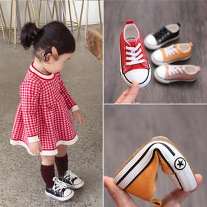 男女童<span class=H>布鞋</span>2019新款秋季韩版小童帆<span class=H>布鞋</span>1-3-6岁宝宝单鞋休闲板鞋