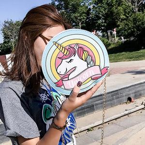 卡通可爱创意<span class=H>女包</span>新款独角兽斜挎包个性小清新单肩包搞怪动物包包