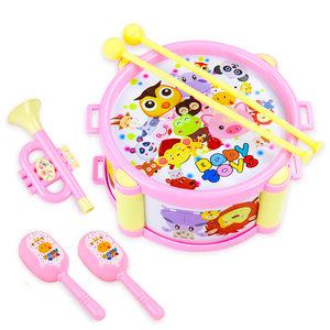 婴幼儿童铃鼓打击<span class=H>乐器</span>婴儿手拍鼓手摇铃鼓玩耍敲敲鼓<span class=H>玩具</span>0-1岁