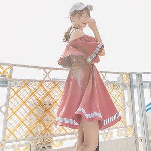 2018春季新款韩版小清新中长款吊带裙学生女装<span class=H>雪纺</span><span class=H>连衣裙</span>夏装裙子