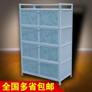 铝合金<span class=H>柜子</span>储物柜带门碗柜橱柜简易组装多功能经济型厨房家用放碗