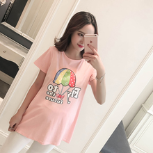 Maternal Wear Summer Wear Thin 2019 New Short Sleeve Top Maternal T-shirt Long Chao Ma Fashion Pregnant Women's Spring Wear