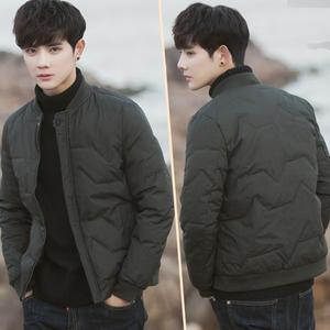 KCJ-ML019冬装新款韩版宽松棒球领羽绒服