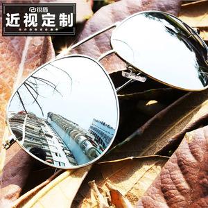 男士近视太阳镜女变色有带度数开车偏光眼镜<span class=H>墨镜</span>韩版潮复古原宿风