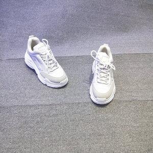 2018春新款欧货欧洲站真皮<span class=H>女鞋</span>松糕底磨砂皮休闲运动鞋<span class=H>时尚</span>低帮鞋