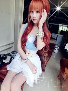 夏装新款时尚气质显瘦女装清纯甜美V领无袖雪纺连衣裙公主裙+腰带