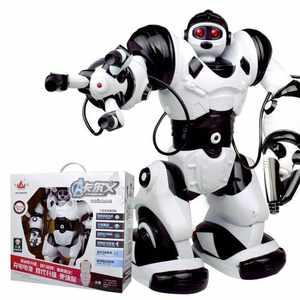 儿童<span class=H>机器人</span>玩具充电语音<span class=H>遥控</span>唱歌跳舞男孩 <span class=H>白色</span> 经典款4代充电版