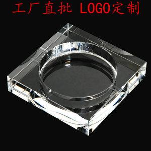 水晶烟灰缸家用客厅大号创意个性潮流精品高档欧式礼品定制LOGO
