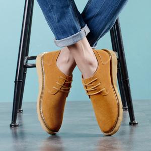 工装鞋磨砂英伦大头鞋休闲鞋男低帮板鞋<span class=H>反</span><span class=H>绒皮</span>手工<span class=H>真皮</span>伐木鞋<span class=H>男鞋</span>