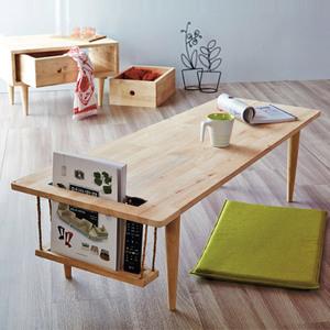 北欧实木<span class=H>茶几</span>现代简约小户型客厅创意原木桌子日式多功能个性