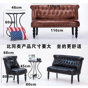 欧式单人<span class=H>沙发</span>椅美式复古简约单人双人三人<span class=H>沙发</span>咖啡厅卧室店铺<span class=H>沙发</span>