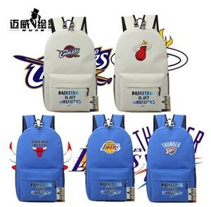 NBA 周边 定制球队周边双肩包 火箭 公牛 骑士 热火 学生<span class=H>电脑</span>书包
