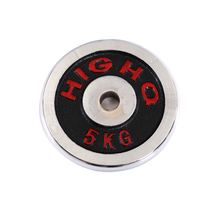 Real-weight red-lettered plated dumbbell piece environmental protection dumbbell piece dumbbell universal weighting piece fittings for household use