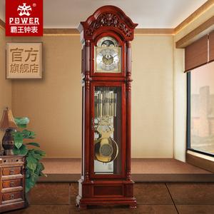 霸王欧式机械<span class=H>落地钟</span>客厅实木德国赫姆勒立钟创意中式古典大座钟