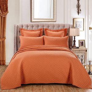 <span class=H>高档</span>欧式<span class=H>床盖</span>三件套纯色全棉床罩绗缝被夹棉床单美式<span class=H>床盖</span>加大单件