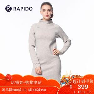 RAPIDO 韩国三星 2018新品秋季女士长款运动休闲<span class=H>连衣裙</span> CP8871K10