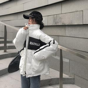 2018新款冬季韩版白色工装羽绒棉服女短款<span class=H>棉衣</span>小个子潮时尚外套冬