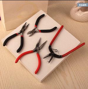 耳環DIY材料手工制作手鏈發飾品工具包串<span class=H>珠寶</span>多功能彎針尖嘴鉗子