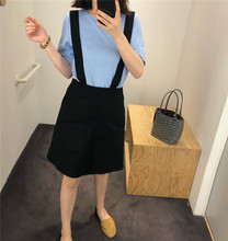 Yjiid Self-made 18 Summer Female College Style Reduced Age, High Waist and Slim A-type Belt Skirt Leisure Simple Students