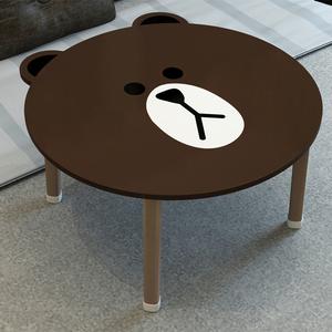 布朗熊笔记本电脑桌床上用宿舍懒人桌简约可折叠咖啡熊熊学习<span class=H>书桌</span>