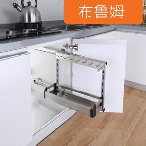 厨房<span class=H>水槽</span>柜侧装<span class=H>拉篮</span><span class=H>橱柜</span>不锈钢工具篮厨房收纳置物架