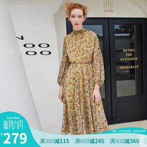 【聚】Vero Moda半高领松紧腰印花连<span class=H>衣裙</span> 31847D508