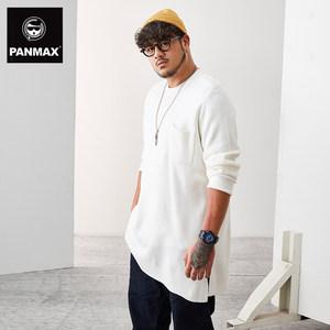 PANMAX男士<span class=H>毛衣</span> 秋装薄款套头毛衫韩版宽松潮流肥佬大码针织衫男