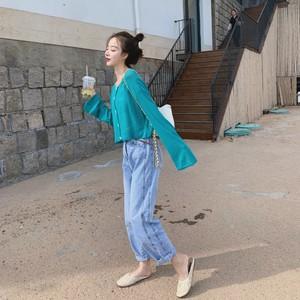 RoDear小狍 薄款外搭短款空调衫<span class=H>开衫</span>女 韩版显瘦针织上衣2019夏季