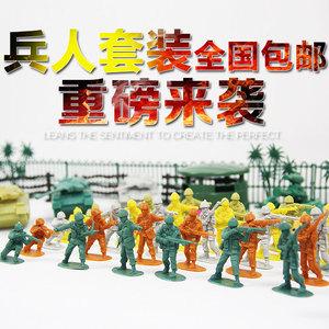 二战部队军事基地模型 兵人套装玩具小士兵人偶1:36<span class=H>模玩</span>特价包邮