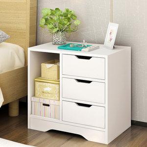 床头柜小型置物架床边卧室简约现代收纳柜子简易床头储物柜经济型