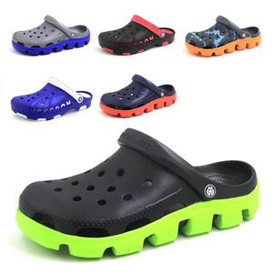 夏季厚底洞洞鞋包头<span class=H>拖鞋</span>软底透气防滑休闲室内外情侣沙滩凉鞋男女