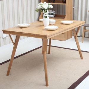 白<span class=H>橡木</span>实木餐桌<span class=H>餐椅</span>组合北欧餐桌椅纯实木高档成套餐桌<span class=H>餐椅</span>