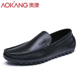 奥康男鞋夏季新款正品透气休闲<span class=H>豆豆鞋</span>男士青年个性低帮鞋子潮