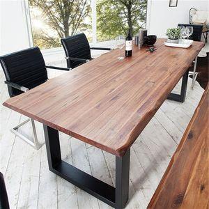 欧式实木桌大板桌<span class=H>办公桌</span>会议桌长方形洽谈桌简约书桌现代咖啡餐桌
