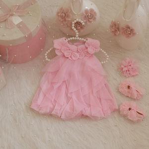 女童宝宝夏装公主裙子新生婴儿衣服纯棉<span class=H>连衣裙</span>一周岁满月礼服粉色