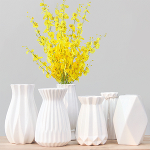 简约现代陶瓷花瓶<span class=H>干花</span>家居装饰品花器玫瑰插花欧式摆件玻璃小清新
