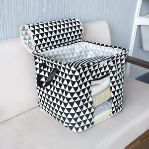 聚可爱 简约可视衣物棉被收纳袋整理箱布艺衣柜储物袋衣物收纳袋