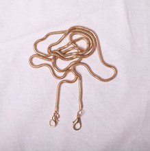 Snake chain wrapped chain fittings strap shoulder strap single buy oblique wrapped chain 4.2 non-fading metal chain