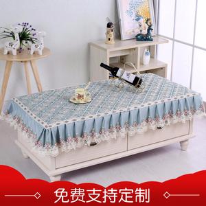 家用客厅欧式长方形蕾丝布艺茶几罩茶几盖布餐桌布防尘罩万能<span class=H>盖巾</span>