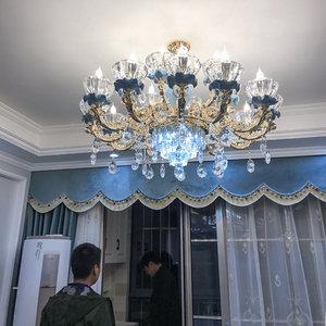 欧式吊灯客厅灯奢华大气法式<span class=H>水晶</span>灯饰网红大厅卧室餐厅灯陶瓷灯具