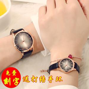 手表男学生韩版潮流时尚商务款情侣手表奢华大气水钻女士<span class=H>时装</span>腕表