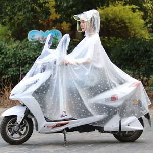 骑行透明男自行车电动车<span class=H>雨披</span>摩托雨衣女成人韩国时尚加大加厚单人