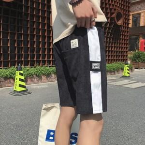 2019修身潮流短裤男士港风百搭休闲裤学生个性五分裤夏季新款裤子