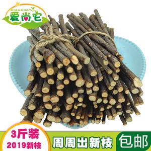 2019新苹果枝 苹果木龙猫磨牙兔兔豚鼠仓鼠苹果树枝宠物零食3斤装
