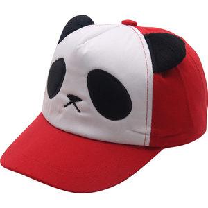 宝宝熊猫帽子儿童亲子棒球帽<span class=H>鸭舌帽</span>户外可爱男童女童遮阳帽防晒